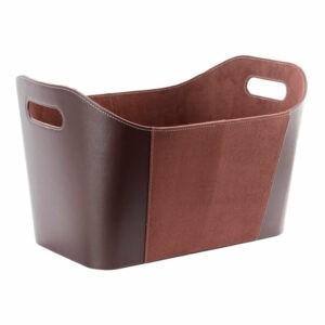 98-233 Brændekurv imiteret læder brun