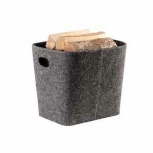 TermaTech brændekurv i grå filt