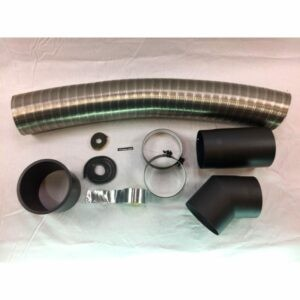 Flexrørskit 2 Ø150mm med 45gr. bøjning