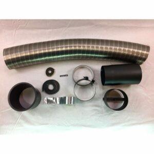 Flexrørskit 3 Ø150mm med lige adaptor