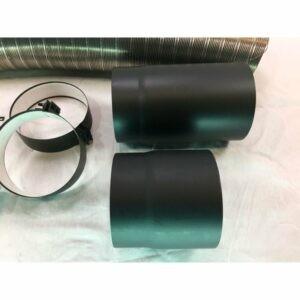 Flexrørskit 4 Ø150mm med lige røgrør
