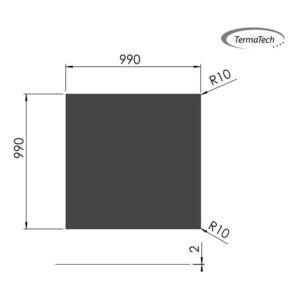 Firkantet gulvplade 100x100