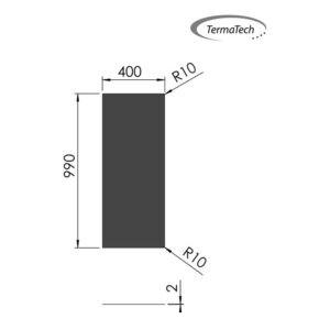 32-550 stålgulvplade rektangulær sort