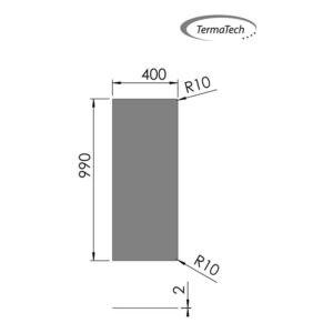 32-551 stålgulvplade rektangulær grå