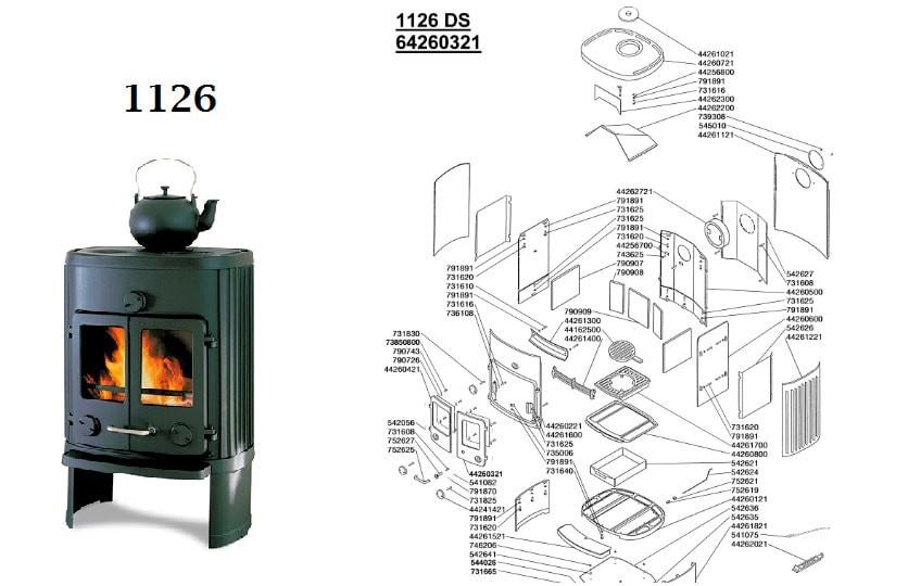 Morsø 1126 gl. model