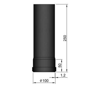 Lige rør Ø100 250mm 20-110