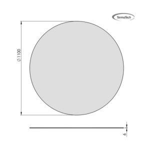 glasgulvplade cirkel 110 cm