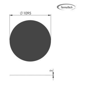 Stålplade cirkel