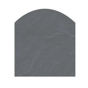 Polysan skifergulvplade fladbue grå 80x85 cm