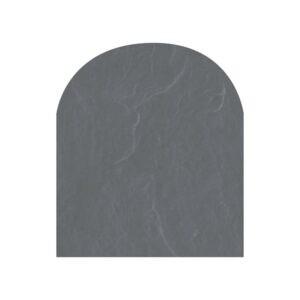 Polysan skifergulvplade halvcirkel grå 100x120 cm