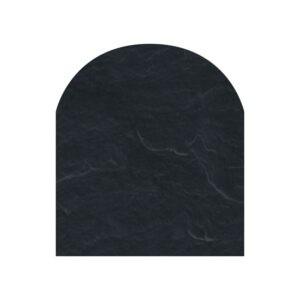 Polysan skifergulvplade halvcirkel sort 85x100 cm