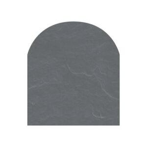 Polysan skifergulvplade halvcirkel grå 85x100 cm
