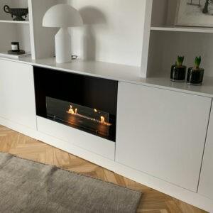 DesignFires klart glas stue